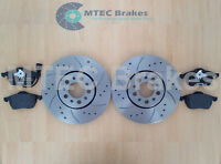 Golf MK4 1.9 130 150 GT TDi Front Drilled Grooved Brake Discs & Mintex Pads