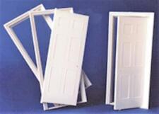 Melody Jane Dolls House White Plastic 6 Panel Interior Door Builders DIY 1:24