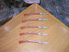 (a 5/9) 5 x fusiles con bayoneta ACW Western garde soldados 4577 4611