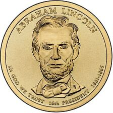 """2010 P Abraham Lincoln Presidential Dollar """"About Uncirculated"""" Coin US Mint"""