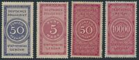 Stamp Germany Reich Revenue Tax Stemple Fiscal Customs Official Fee Select MNH