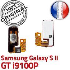 ORIGINAL Samsung Galaxy S2 GT i9100P Nappe Bouton Power à souder Contacts Dorés