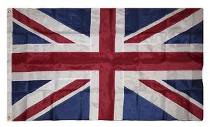 8x12 ft Embroidered Sewn United Kingdom British UK 600D Nylon Flag 8'x12'
