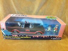 """Mezco Mez-Itz Batmobile  Batman- Robin 2"""" Figures 1966 TV Car Set"""