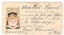 18/416 ALTES HISTORISCHES EINLADUNGSKÄRTCHEN TAUFE , GRANA 1922
