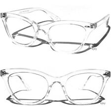 TRANSPARENT FRAME CAT EYE CLEAR LENS GLASSES Sexy Retro Hipster Classic Style