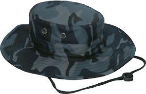Adjustable Boonie Hat Tactical Jungle Bucket Fishing Sun Wide Brim One Size Cap