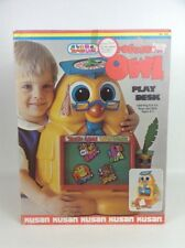 Professor Owl Play Desk Learn Vintage 80s Toy Kusan Zoodle Land Complete w/ Box