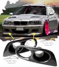CARBON COVER FOG LIGHTS FOR BMW E46 98-05 M3 SERIES 3 NEW AIR DUCT
