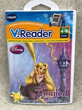 Vtech VReader Disney Tangled Cartridge Case Manual 2010 Tested Works Complete