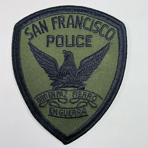 San Francisco Police California CA Subdued OD Green Tactical Patch (B6-B)