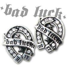 Alchemy UL17 Ohrstecker Ohrring - Bad Luck Studs - Gothic Punk Schmuck 1 Paar