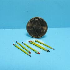 Dollhouse Miniature Yellow Pencil Set 6 Pieces IM65648