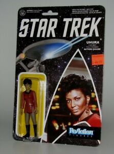 "UHURA ""STAR TREK"" REACTION POSABLE ACTION FIGURE NICHELLE NICHOLS BRAND NEW!!"