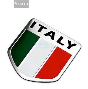 Italy Italian National flag Aluminium Decal Emblem Badge Sticker For Luxury Car