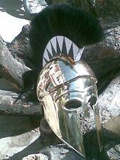 Greek Corinthian Helmet with Plume Brass Ancient Helmet Reproduction