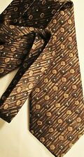Wm. H. Leishman Brown Handmade Executive  Classic Tie Necktie 100% Silk