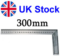 "300mm (12"" inch) Engineers Try Square Set Right Angle Ruler - Heavy Duty Steel"