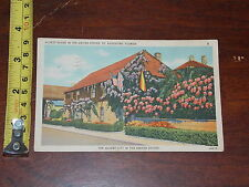POSTCARD RARE VINTAGE OLDEST HOUSE IN USA ST AUGUSTINE FLORIDA 1938