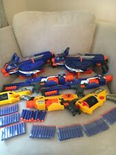 Large Nerf Gun Bundle Hail Fail X2 Stockade X2 Maverick Rev 6 X2 Barricade Rv10