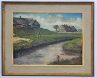 ARNOLD FIECHTER (Swiss, 1879 - 1943) Original SIGNED MODERNIST Oil Painting