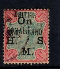 SOMALILAND SGO5 1903 1r GREEN & CARMINE - GOOD USED