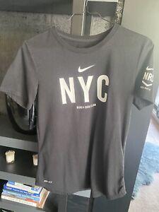 Nike Women's Black NYC Dri Fit Run Club T Shirt XS