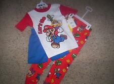 Super Mario Let's Go 3 Piece Pajamas Sleepwear Set Size 6 Shirt Shorts Pant