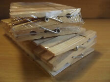 Holz-Wäscheklammern 4 x 24 = 96 Stück *Wäscheklammer, Natur Holz zum Basteln NEU