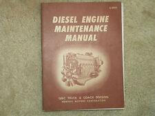1959 GMC Truck Diesel Engine Maintenance Manual