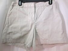 Ann Taylor Khaki Beige Bermuda Walking Shorts Cotton Size 8 Waist 30