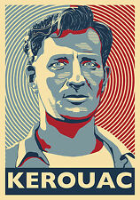 Jack Kerouac - Beat Generation Writer, Poet, Boozer - A Poster Hommage by Atelie