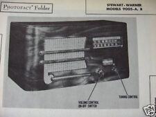 STEWART WARNER 9005-A & 9005-B RADIO PHOTOFACT