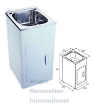 Brand New Drop In Stainless Steel Laundry Tub Cabinet COMPACT 35 Litres