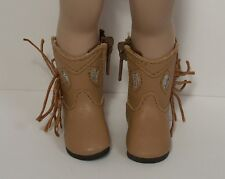 "Lt Brown Cowboy Boots Doll Shoes Ll Fit 10"" Ann Estelle Sophie Patsy (Debs)"