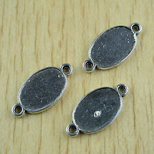 10pcs Tibetan silver oval picture frame charms h0394