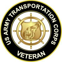 "Army Transportation Corps Veteran 5.5"" Decal 'Officially Licensed'"