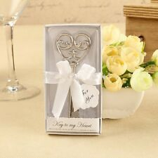 "Wedding Love Heart ""Key To My Heart"" Favor Key Bottle Opener Boxed Party Gift"