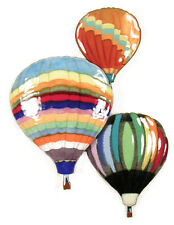 Hot Air Balloons In Flight Metal Wall Art Sculpture by Bovano of Cheshire W693