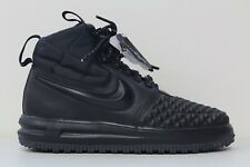 Nike Air Force 1 High Duckboot LF1 Lunar Triple Black Blackout 916682-002 Size 9