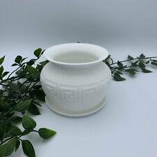 3D Printed Greek Style plant pot, planter, vase, gift, in White