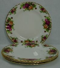 "ROYAL ALBERT china OLD COUNTRY ROSES pattern SALAD PLATE 8-1/8"" Set of FOUR (4)"