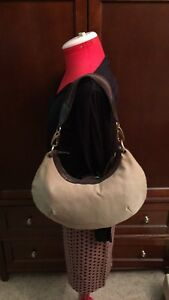 GUCCI CANVAS HOBO BAG, Pre-Own condition, beige, material, stripe handle