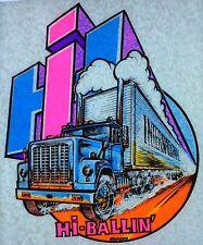 Original Vintage International Truck Hi-Ballin' Iron On Transfer Dayglo