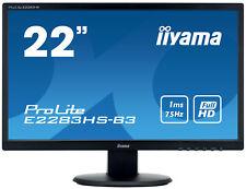 "iiYama ProLite E2283HS-B3 Ecran LED Full HD 22"""