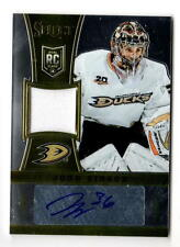 NHL TRADING CARDS --- AUTO -- JERSEY CARD --- John Gibson --- Anaheim Ducks --- 152/199