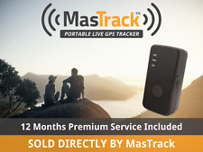 MasTrack GL300VC Portable Live GPS Tracker Includes 12 Months of Premium Service