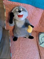"Disney World Pocahontas Large 15"" Meeko Raccoon Plush Stuffed Animal, Vintage"