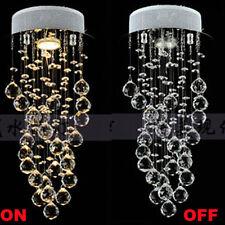 "LED Crystal Pendant Lamp Lighting Ceiling Light Rain Drop Chandelier Proch D7.8"""
