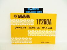 NOS Genuine Yamaha Owner's Service Manual TY250 Trials 250 TY250A 1974 74
